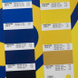 Preview: match between PANTONE 287 C and 7406 C with our printed Roll-Up banner