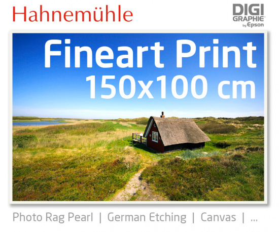 150x00 cm fineart print with 1440x2880 DPI on Hahnemühle fineart papers like Photo Rag, German Etching, Canvas, Premium Photo Glossy
