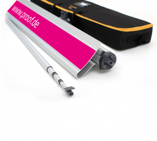 Proof.de color binding Roll-Up 3 in Contract Proof Quality - telescopic pole and transport bag