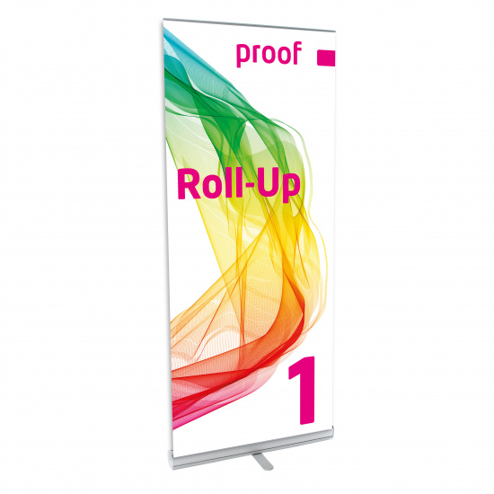 Proof.de color binding Roll-Up 1 in Contract Proof Quality also for PANTONE Spot Colour - front
