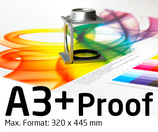 DIN A3+ Proof, Farbproof, Digitalproof nach Fogra / DIN 12647-7