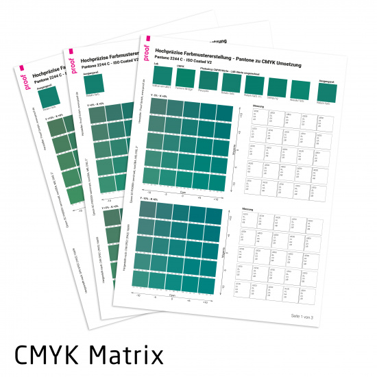 PANTONE to CMYK Matrix by Proof.de