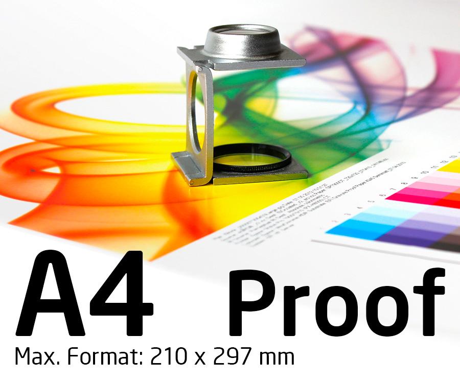 A4 Proof farbverbindlich nach ISO 12647 mit Fogra Medienkeil - shop ...