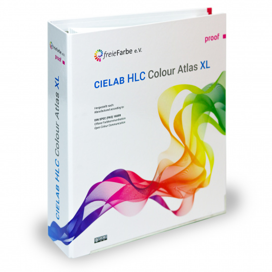 CIELAB HLC Colour Atlas XL by freieFarbe e.V. / freeecolour.org - ring binder