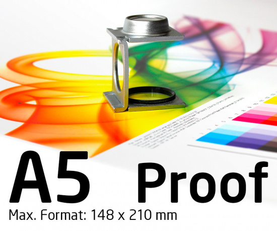 DIN A5 Proof, Farbproof, Digitalproof nach Fogra / DIN 12647-7