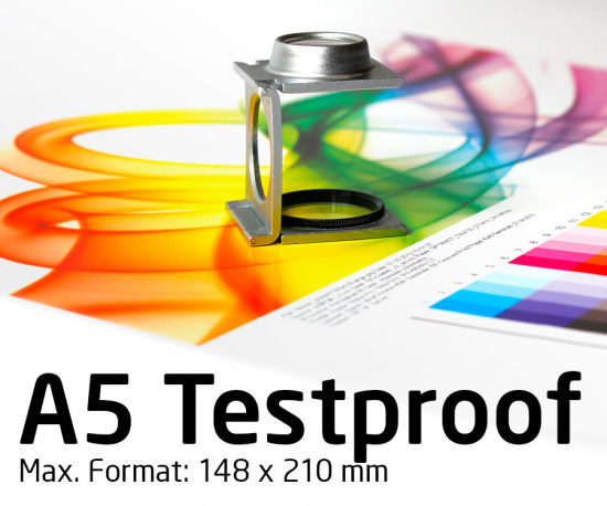Free A5 Test Proof Colour Binding. Contract Proof, Digital Proof, Online Proof