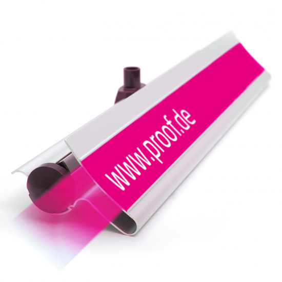 Proof.de color binding Roll-Up 3 in Contract Proof Quality - Casing with branding rail