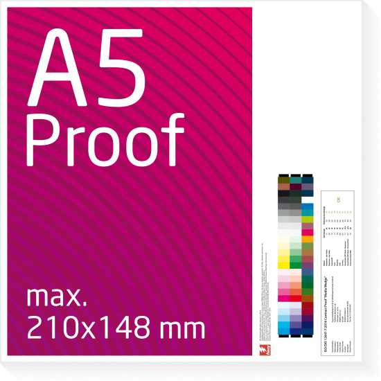A5 Proof colour binding Digital Online Proof
