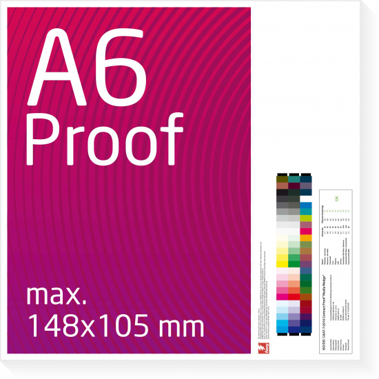 A6 Proof colour binding Digital Online Proof